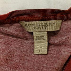 Burberry Tops - Burberry T-shirt Red Plaid